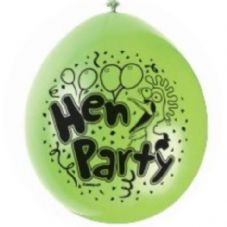 "10 'Hen Party' 9"" Assorted Colour Balloons"